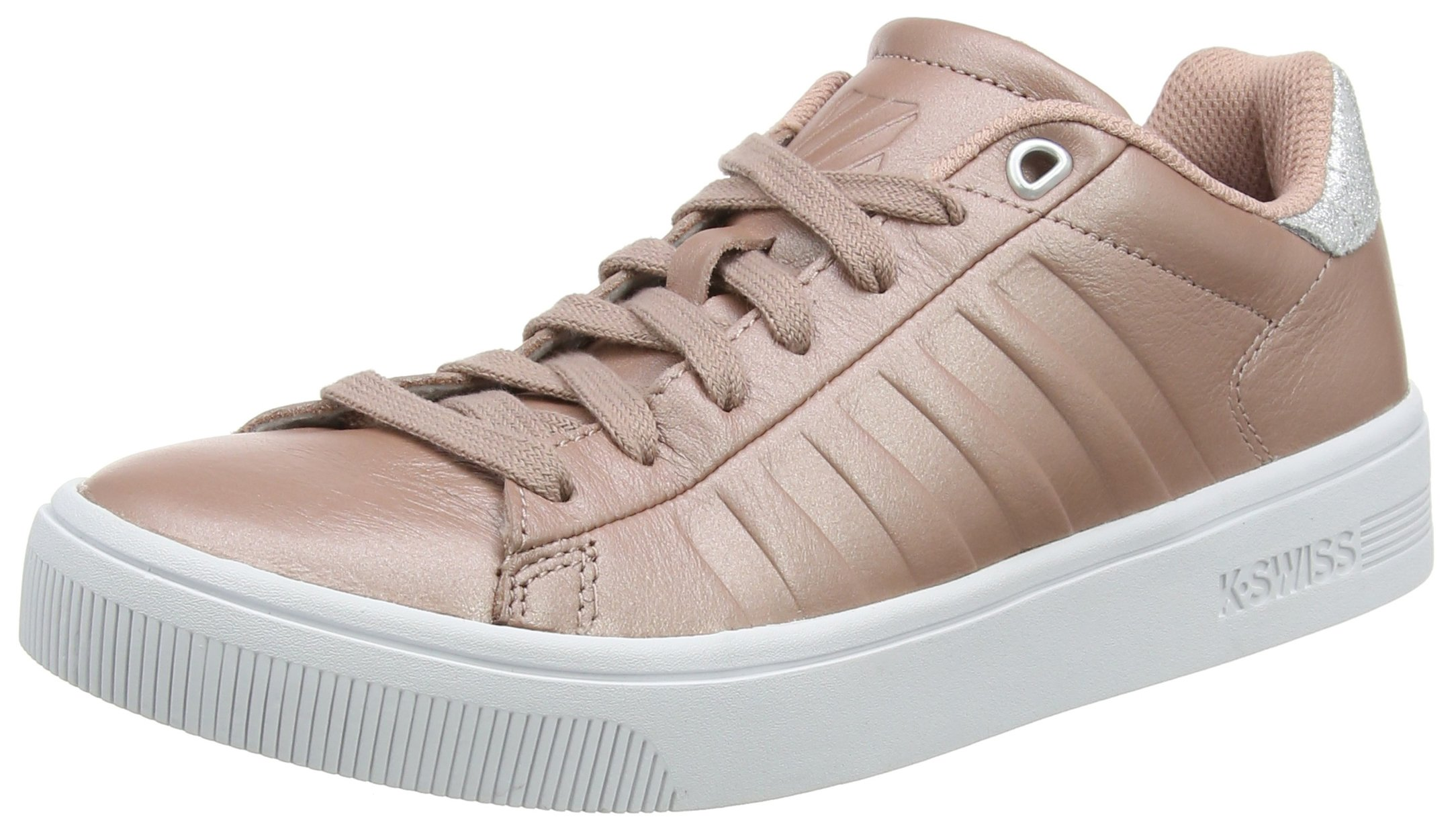 K-Swiss Women's Court Frasco Sneaker, Rose/Silver/White, 7.5 M US