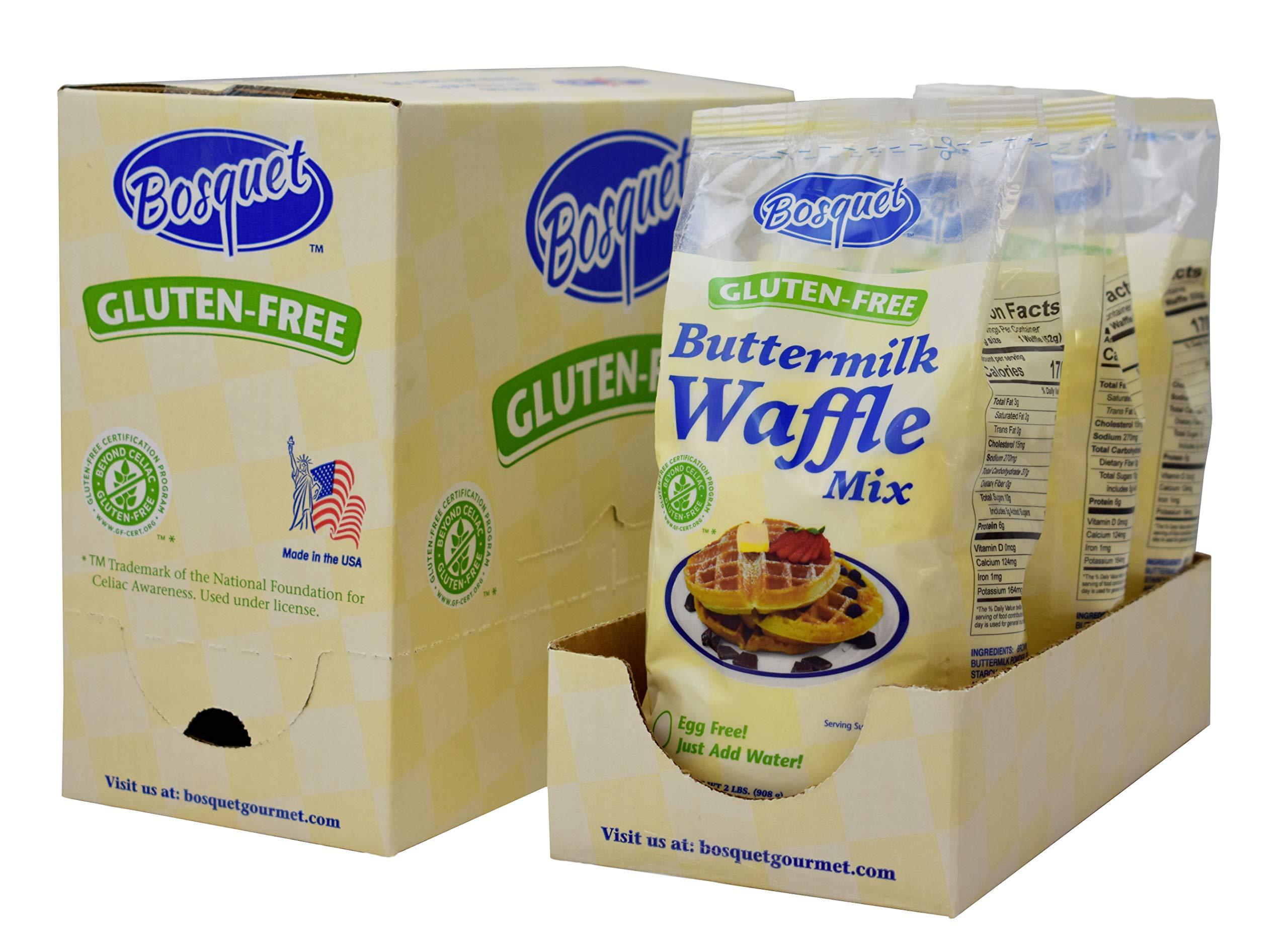 Bosquet Gluten-Free Waffle Mix (Pack of 3) by Bosquet