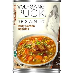 Wolfgang Puck Organic Hearty Garden Vegetable Soup, 14.5 oz.