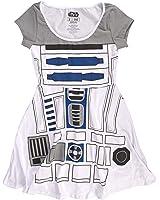 Star Wars R2-D2 Robot Damen Weiß Kostüm Tank Top Shirt