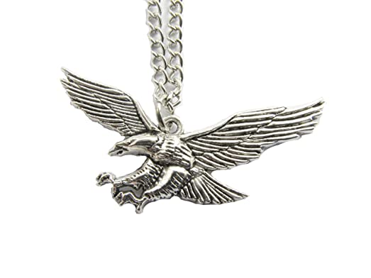 Amazon eagle necklace ancient silver eagle charm eagle eagle necklace ancient silver eagle charm eagle jewelrybird necklaceeagle pendant mozeypictures Gallery