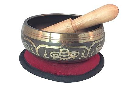 Amazon.com: Manos de Tíbet Ocho suerte símbolo Yoga – Cuenco ...