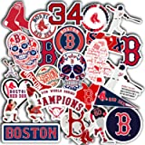Stickers Pack Boston Aesthetic Red Vinyl Sox Stickers Set of 30 Decal 2' Colorful Waterproof for Laptop Sticker