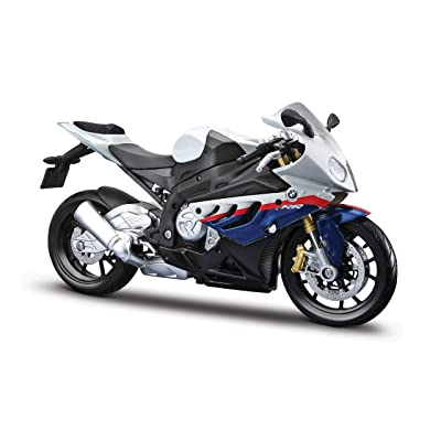 Maisto 1/12 BMW S1000Rr Motorcycle, White/Red/Blue Multi: Toys & Games