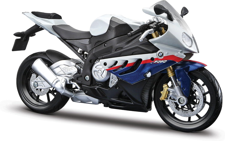 Maisto 1/12 BMW S1000Rr Motorcycle, White/Red/Blue Multi