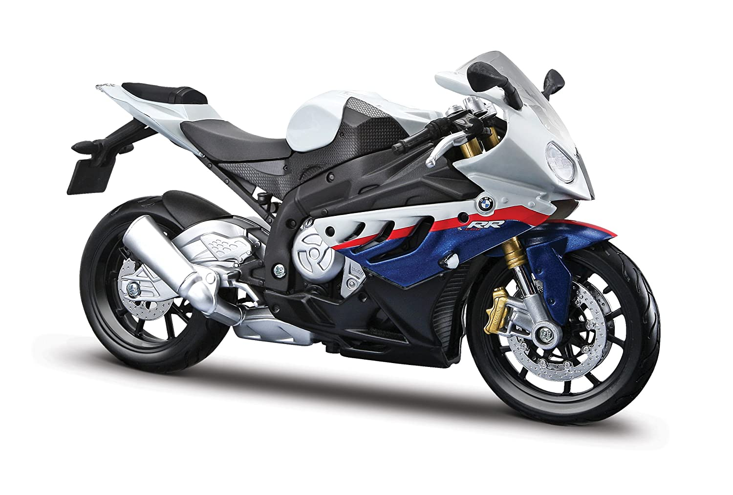Diecast Motorcycle Model Maisto 1//12 BMW S1000RR Blue White Color