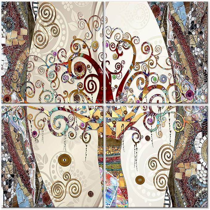 murando Impression sur Toile intissee Gustav Klimt 70x35 cm Tableau 1 Partie Tableaux Decoration Murale Photo Image Artistique Photographie Graphique Arbre Pierre Art l-A-0033-b-a