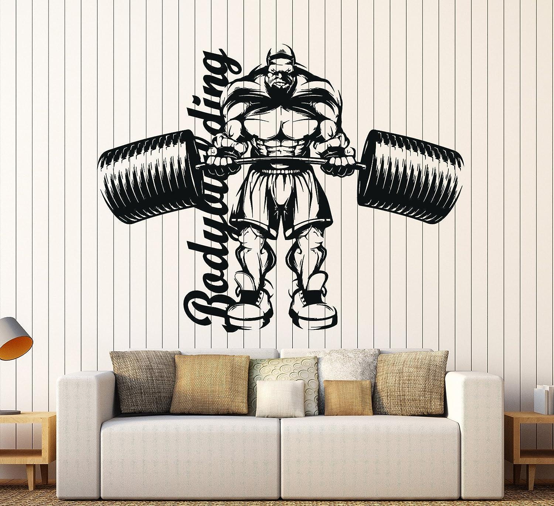 Vinyl Wall Decal Bodybuilder Gym Fitness Motivation Garage Stickers ig3954