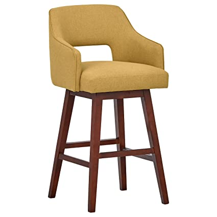 Phenomenal Rivet Malida Mid Century Open Back Swivel Counter Bar Stool 41 Inch Height Canary Yellow Andrewgaddart Wooden Chair Designs For Living Room Andrewgaddartcom