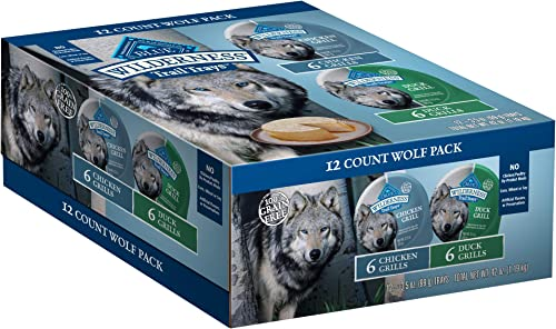 Blue Buffalo Wilderness Trail Trays High Protein Grain Free Natural Adult Wet Dog Food Cups, 3.5-oz Pack of 12