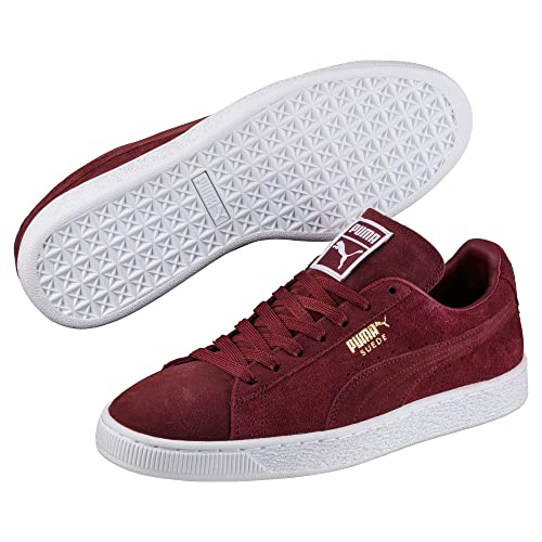Puma Suede Classic + Cabernet-White-Team Gold  Buy Online at Low ... d16782736
