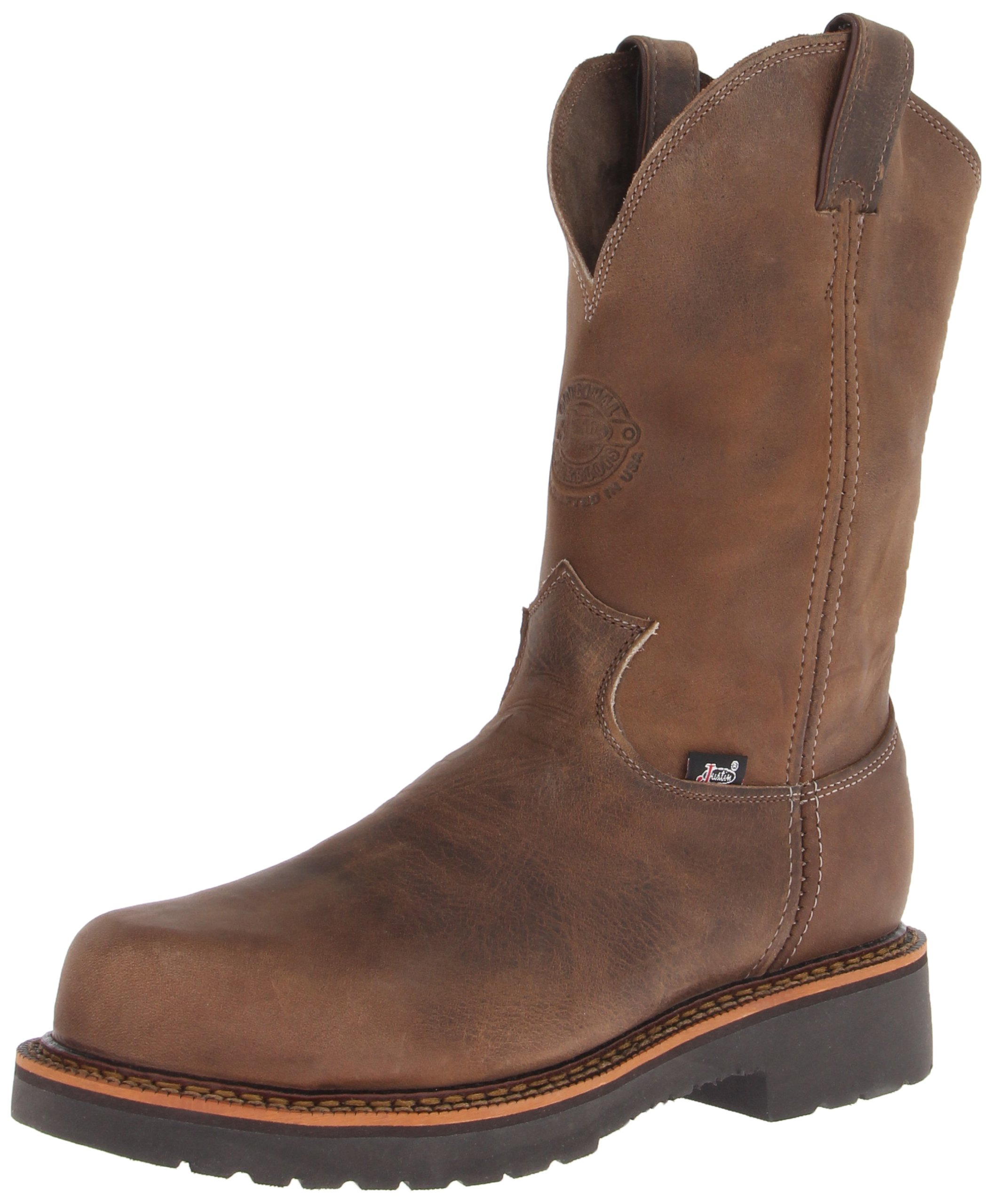 Justin Original Work Boots Men's Jmax PN Comp Toe Composite Work Boot,Tan/Crazy Horse,12 EE US by Justin Original Work