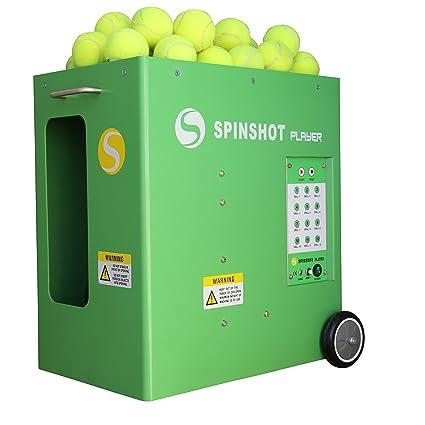 Spinshot-Player Máquina lanzadora de pelotas de tenis con soporte de mando de teléfono