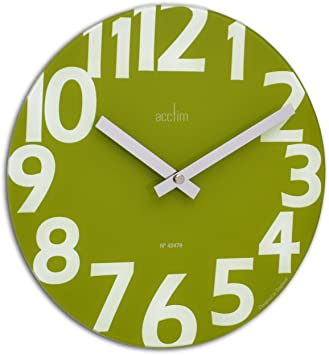 Acctim 27405 Orologio da parete Carib, colore: verde acido ...