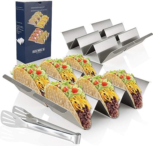 Amazon.com: Soporte para tacos de taco de acero inoxidable ...