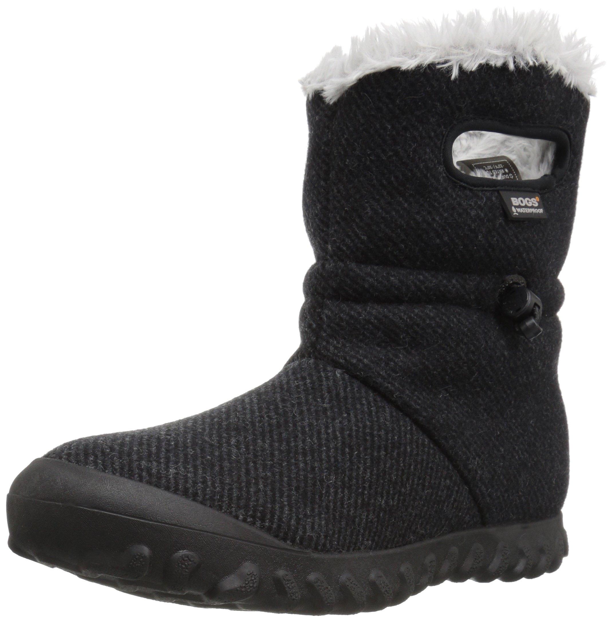 Bogs Women's Bmoc Wool Snow Boot, Black, 10 M US by Bogs