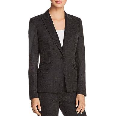 0074975e8 Hugo Boss BOSS Womens Jeresa Suit Seperates One-Button Blazer Black 0