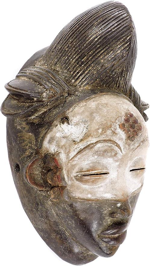 Punu Maiden Spirit Mask Mukudji Gabon African Art: Amazon.es: Hogar