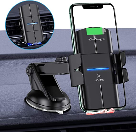 CTYBB Qi Auto-Clamping Air Vent Dashboard Car Phone Holder /& QC3.0 Car Charger Wireless Car Charger 10W Compatible for Galaxy S10//S10+//S9,Charging for iPhone 11//11 Pro//11 Pro Max//XSMax//XS//XR//X//8P//8