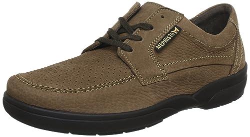 Mephisto - Zapatos de cordones de cuero para hombre, color marrón, talla 42