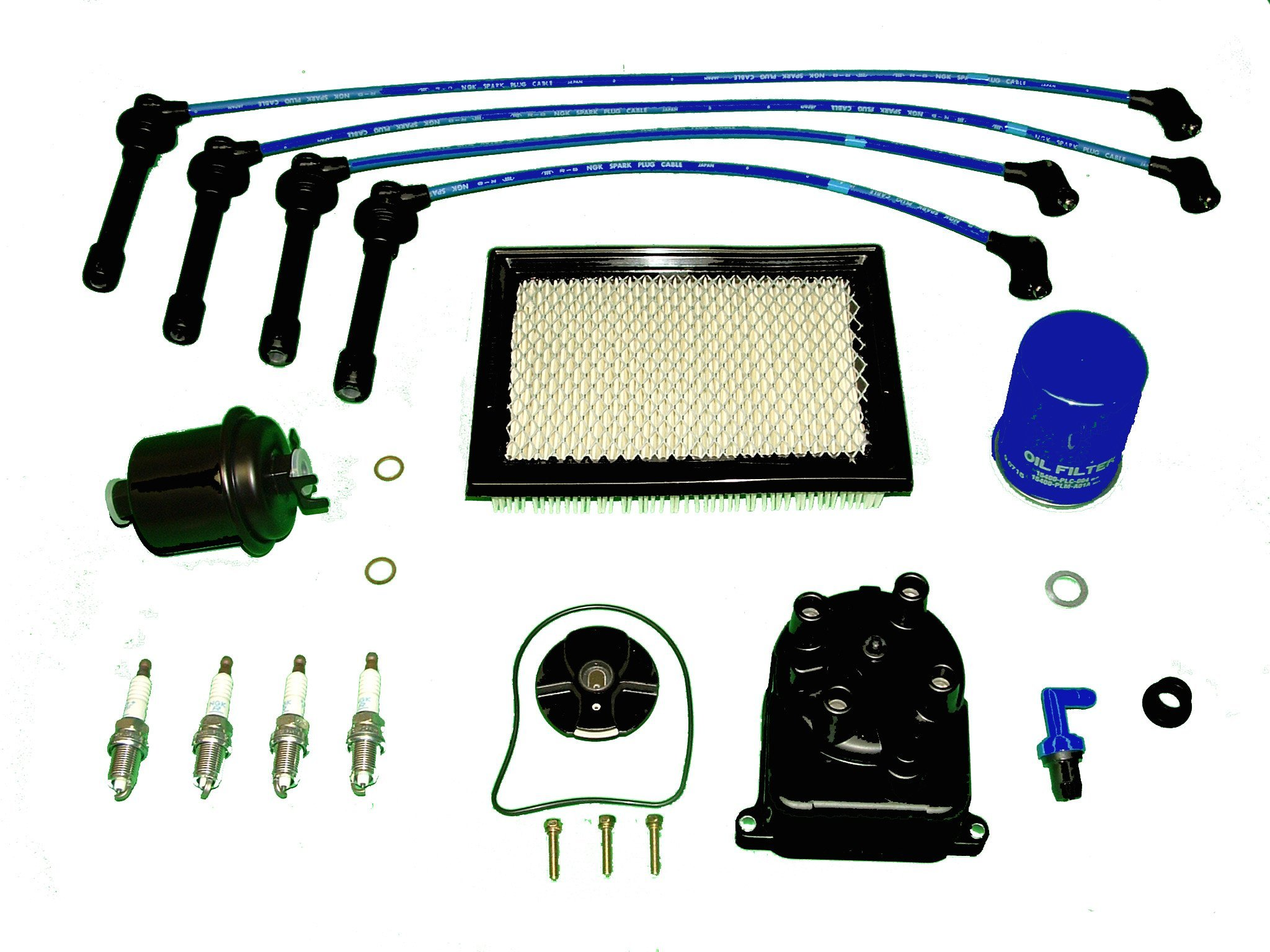 Tune Up Kit Replacement For Honda Civic CX DX LX 1996 to 2000 1.6L by TBK Timing Belt Kit
