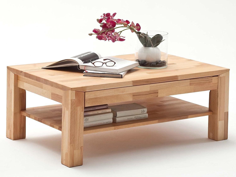 Couchtisch Holz Massiv Buche Mit Schublade Massivholz Wohnzimmer Tisch Kernbuche Messina