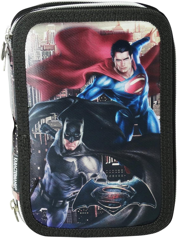 Dc Comics Batman Vs Superman Dawn Estuche Escolar Asilo Làpices de colores Pencil Case 3 ZIp: Amazon.es: Equipaje