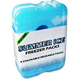 Jane Ellington Summer Ice, Long-Lasting, Slim Freezer ice Packs for Lunch Boxes and Coolers