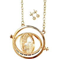 Amazon Price History:Bodytrend Hermione Time Turner Necklace Wizardry Falcon Horcrux Hourglass Pendant