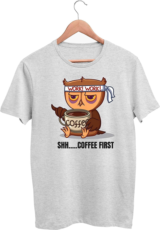 SAYOMEN - Shh Coffee First TS1_62 T-Shirt Soft Warm Comfortablefor, Men Women, Christmas, Valentine