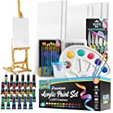 KEFF Complete Acrylic Paint Kit- 54 Piece Creations Professional Artist Painting Supplies Set, Art Painting, 24 Acrylic…