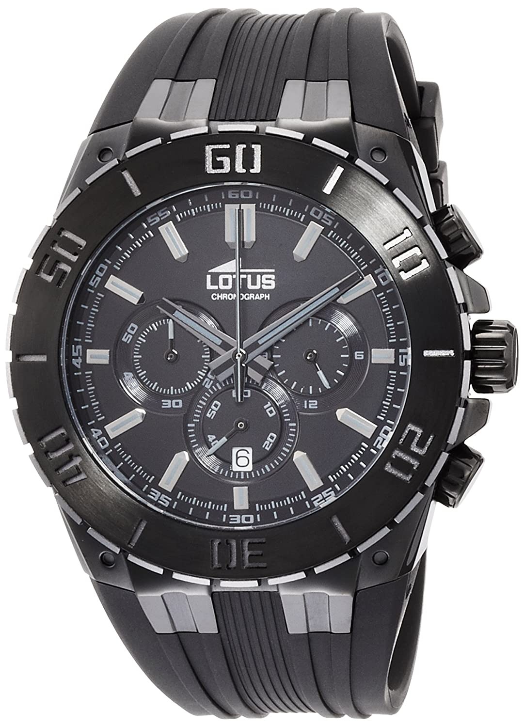 Amazon.com: Mens Watch LOTUS 15803/1 - Chronograph - Rubber Band: Watches