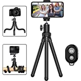 Phone Tripod, Portable Cell Phone Camera Tripod Stand with Wireless Remote, Flexible Tripod Stand for Selfies/Vlogging/Stream