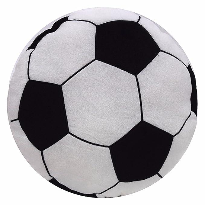 Pertemba Global Cojín relleno con forma de balón de fútbol