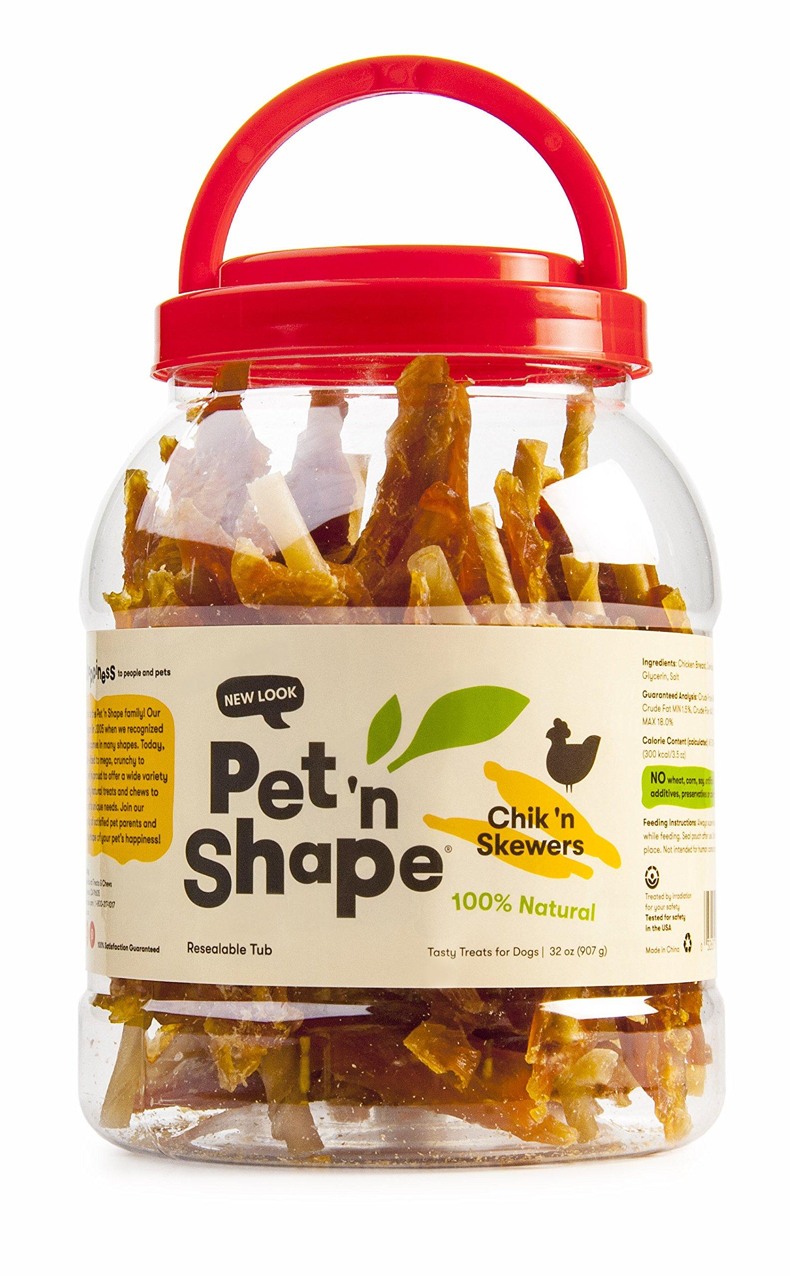 Pet 'n Shape Chik 'n Skewers Natural Dog Treats, 2-Pound Tub by Pet 'n Shape