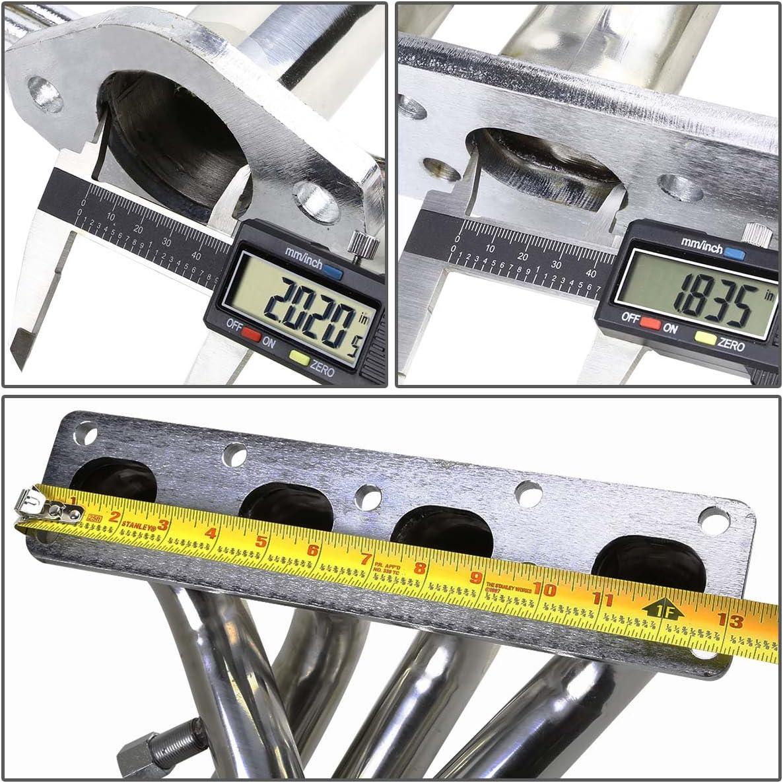 2.0L I4 For Ford Probe//Mazda MX-3 4-2-1Design 2-PC Stainless Steel Exhaust Header Kit