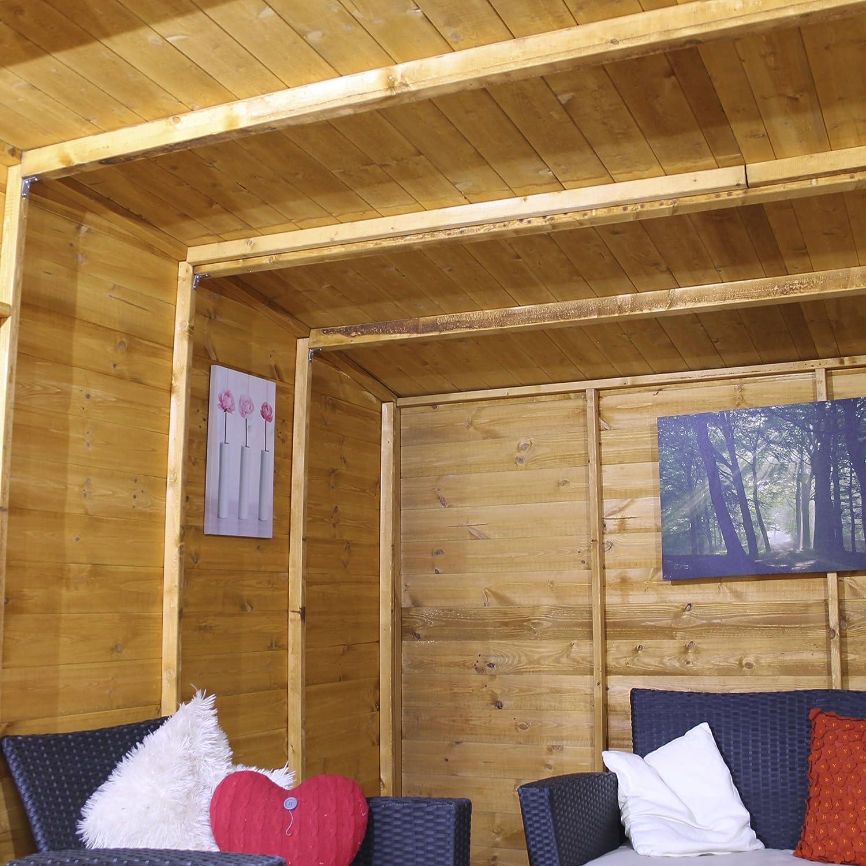 10 x 10 Madera Summerhouse - jardín Oficina - Cobertizo (T & G, Inclinado para Techo y Fieltro por Walton: Amazon.es: Jardín