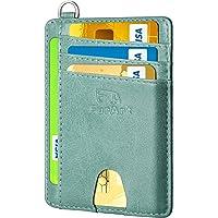 FurArt Slim Minimalist Wallet, Front Pocket Wallets, RFID Blocking, Credit Card Holder with Disassembly D-Shackle
