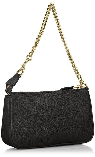 Coach bolso de mano pochette mujer en piel nuevo nolita wristlet negro: Amazon.es: Zapatos y complementos