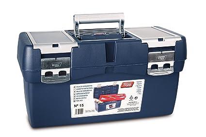 Tayg Caja herramientas plástico n. 15, negro, 500 x 258 x 255 mm