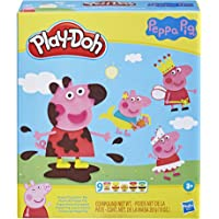 Play-Doh Peppa Pig Stylin Set - with 9 PlayDoh tubs of Non-Toxic Modelling Dough and 11 Toy Accessories - Kids Sensory…