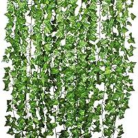 Natuce Hiedra Artificial 12 Piezas 24M Plantas Artificiales