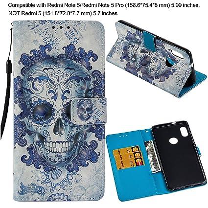 faf6d4c3f5 Baokai Wallet Phone Case for Xiaomi Redmi Note 5 Pro, Redmi 5, Redmi 5  Plus, Redmi S2/Redmi Y2, Redmi 6/Redmi 6A Leather Flip Cover Full  Protection with ...