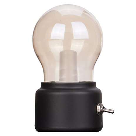 Amazon.com: Veesee Creative Bulb Lamp,LED Rechargeable Night Light ...
