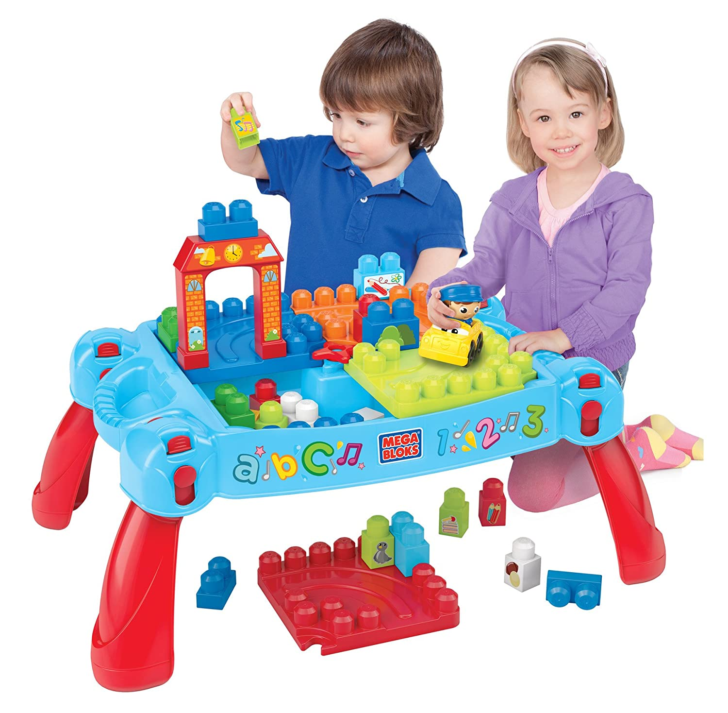 Amazon Mega Bloks Play n Go Table Colors May Vary Toys