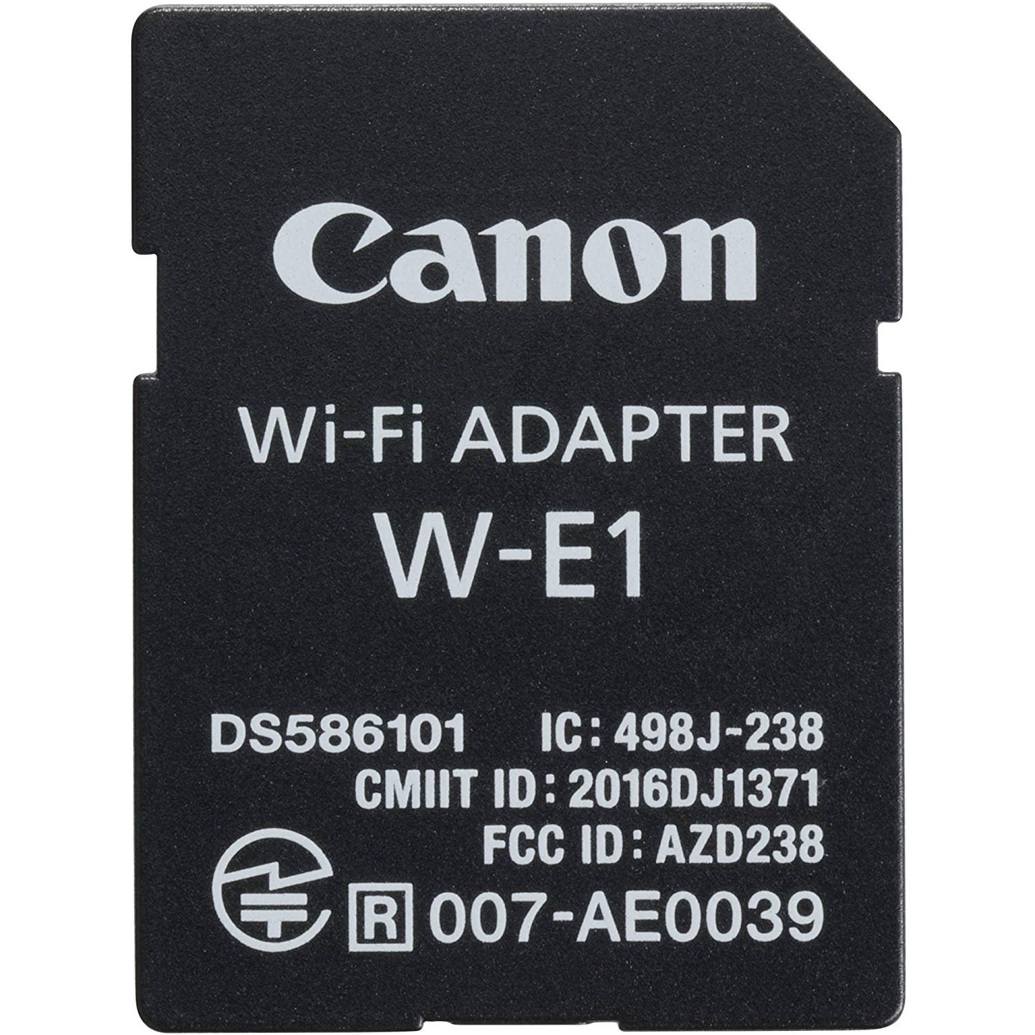 Canon Wi-Fi Adapter W-E1 Bundle with SD and CF Storage Wallet Pouch 1716C001 Ultrasoft Microfiber Cleaning Cloth!
