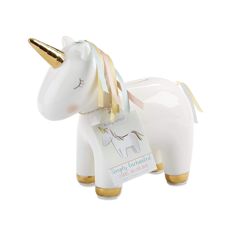 Baby Aspen Ceramic Unicorn Bank BA21024NA