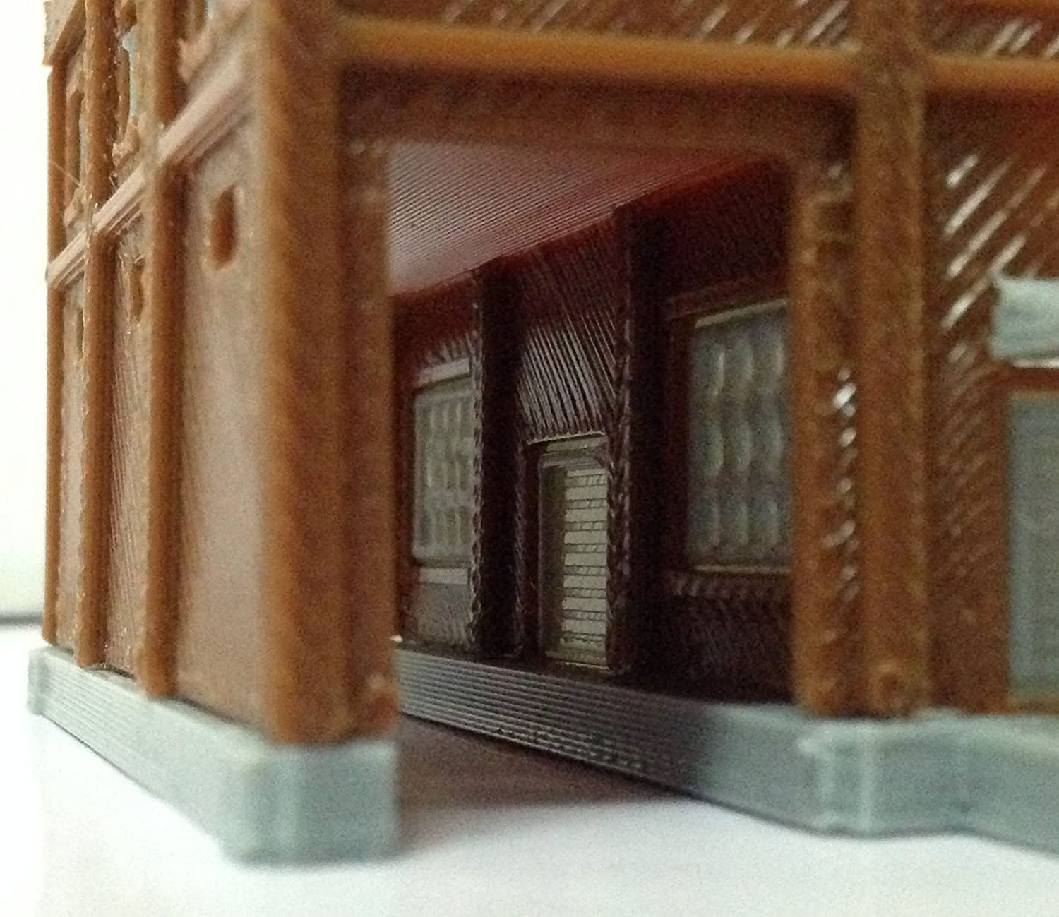 Outland Models Railroad Building Large Factory with Train Passage Z Scale 1:220