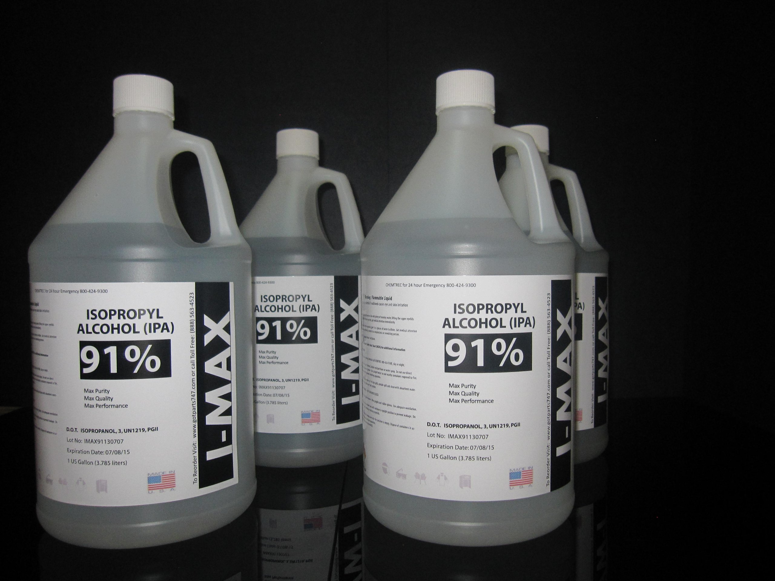 Disinfectant Alcohol - IPA 91% (4-1 Gallon)
