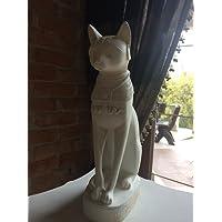 Egyptian Bastet gatto statua in bianco Skrab?US Cat statue figure